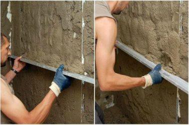 Как оштукатурить кирпичную стену цементным раствором?