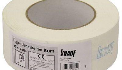 Бумажная лента для швов гипсокартона кнауф
