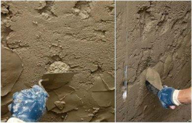 Покрытие стен цементным раствором форма балясины из бетона купить