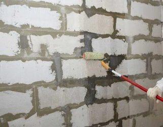 Штукатурка стен из газобетона снаружи помещения