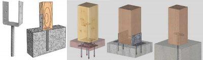 крепление для деревянных столбов к бетону купить