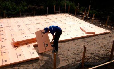 Пеноплекс под фундаментную плиту