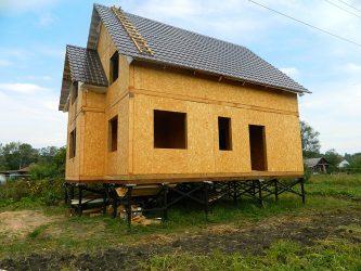 Щитовые дома на винтовых сваях