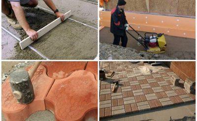 Укладка плитки на улице технология