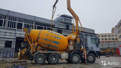 доставка бетона миксером с бетононасосом москва