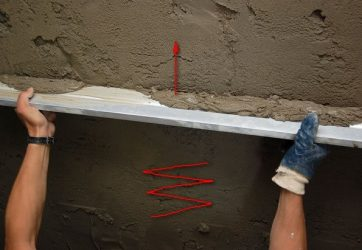 Правила штукатурки стен цементным раствором
