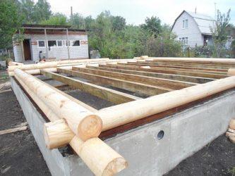 Установка сруба бани на фундамент своими руками